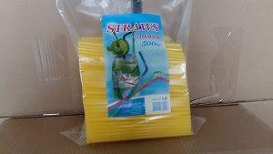 Жълти сламки прави