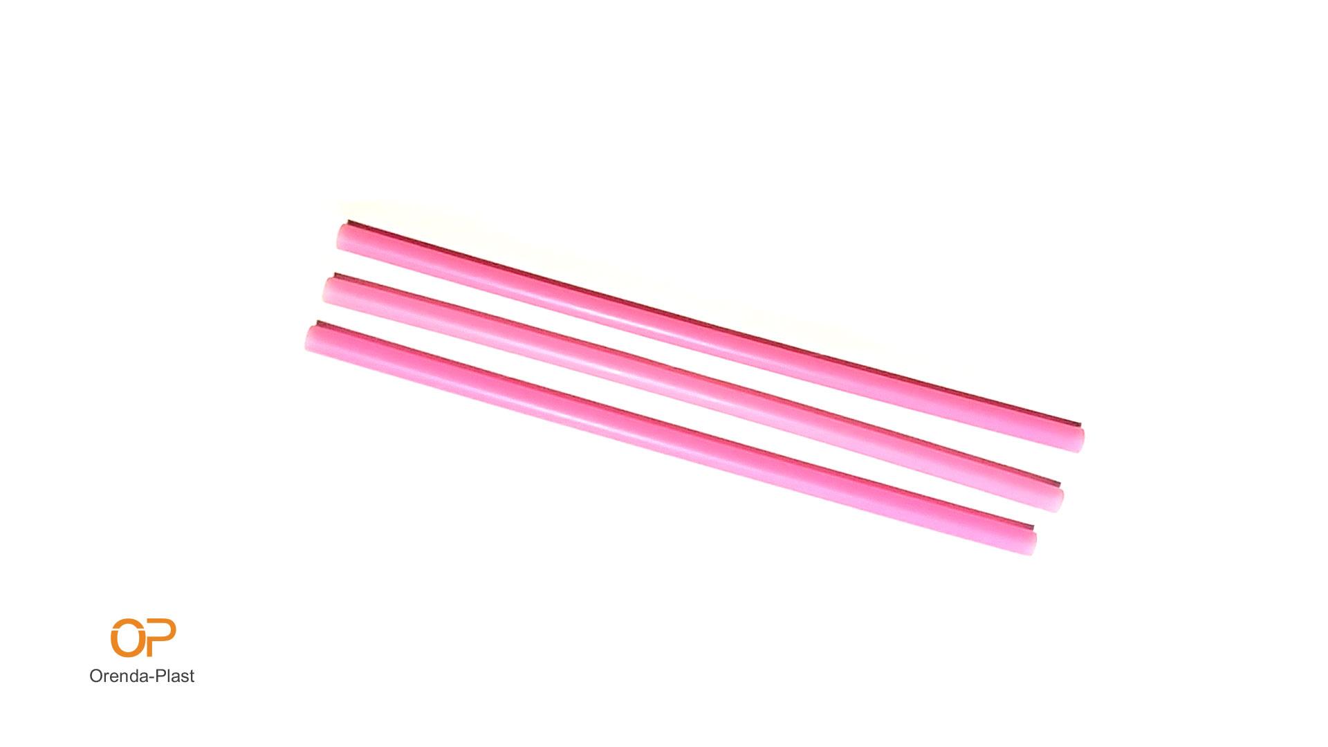 Права сламка розово